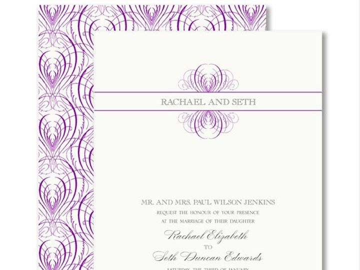 Tmx 1326567950416 VeraWangRaspberryCalligraphicFeatherWeddingInvitations7995131 West Kennebunk wedding invitation