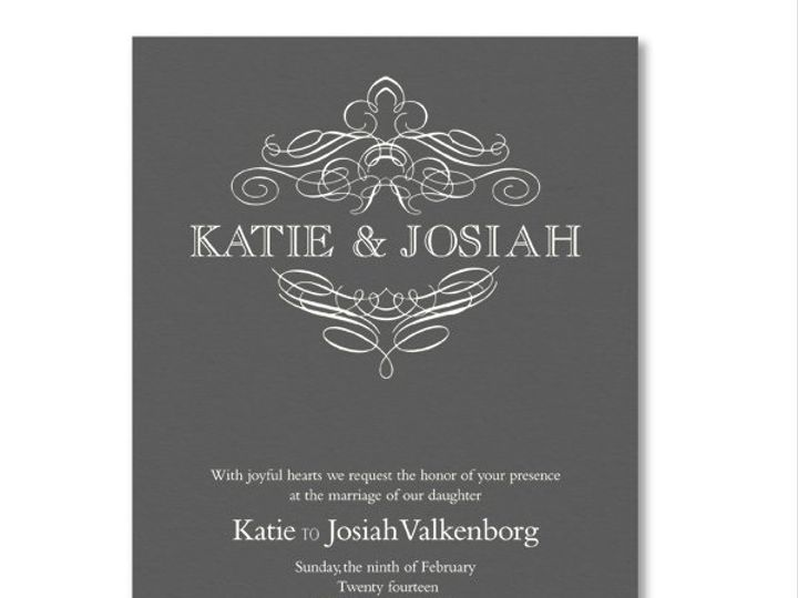 Tmx 1326568017137 VeraWangEngravedCalligraphicCrestPewterWeddingInvitations8586087 West Kennebunk wedding invitation