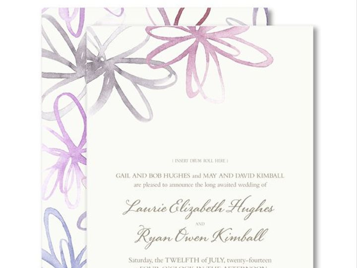 Tmx 1326568025515 VeraWangWatercolorBlossomsWeddingInvitations8586073 West Kennebunk wedding invitation