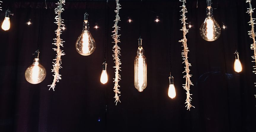 Drop down edison and fairy lights