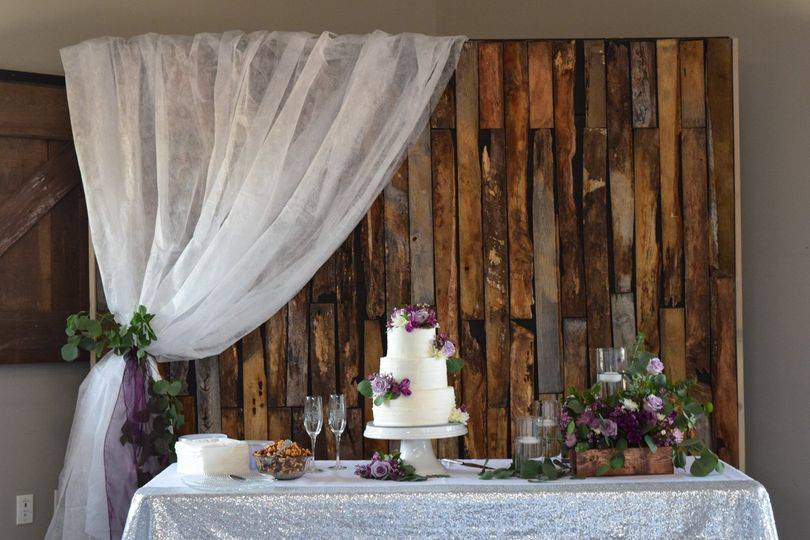 Barn wood backdrops included