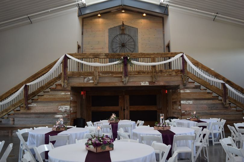 Grand Barn Wood Staircase
