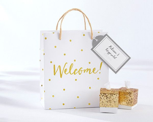 Tmx 1473209545283 28266na Prs Gold Dot Welcome Bag1 Ka L Philadelphia wedding favor