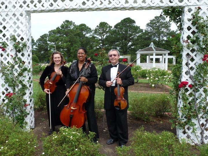 String Trio in rose garden