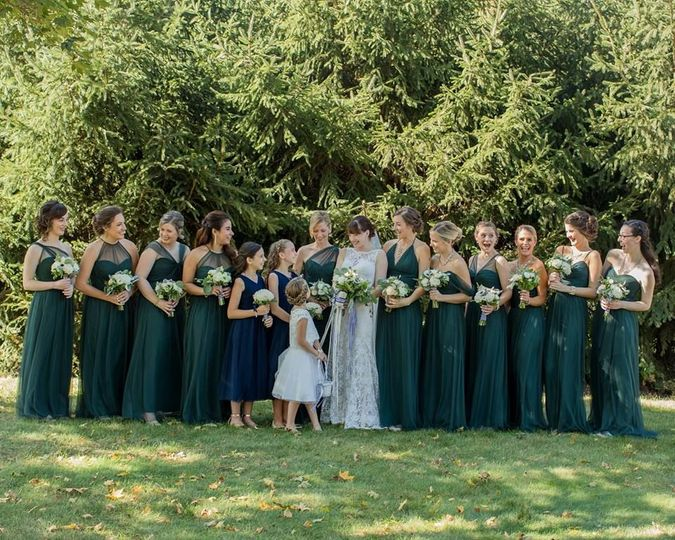 Green amsale bridesmaids