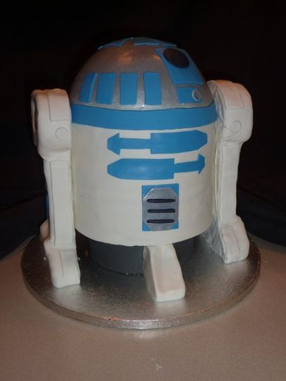 This was a wedding cake for a Star Wars bride and groom