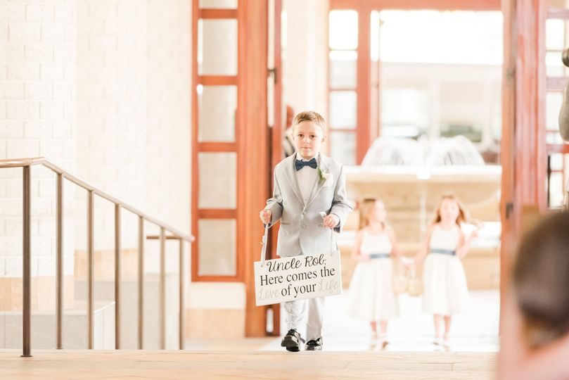 (adorable) ring bearer