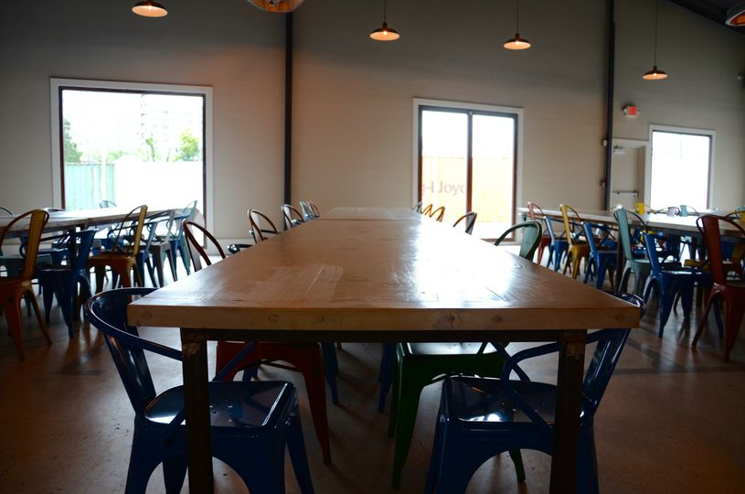 Long table and chairs