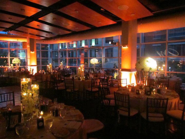 Romantic lighting at the reception