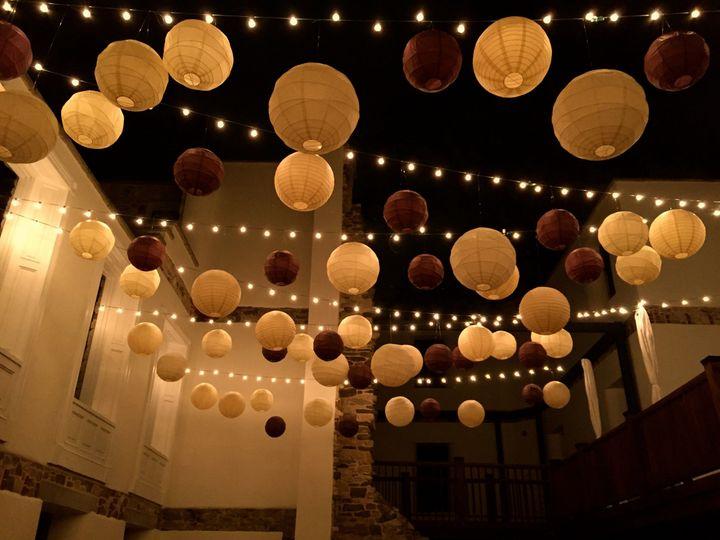 Lanterns and string lights