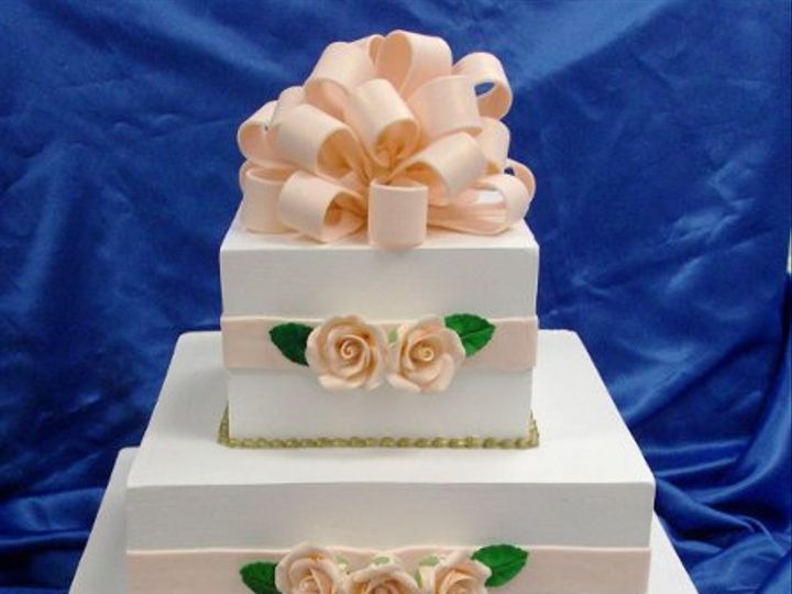 Tmx 1231265468437 Squarebow Catonsville wedding cake