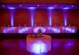Purple lit wedding table