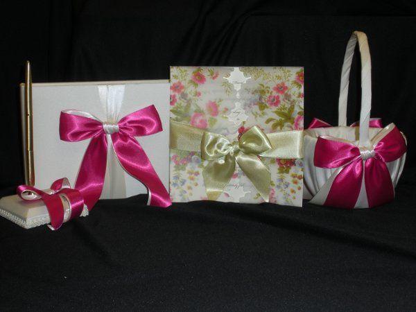 Wedding invite ribbons