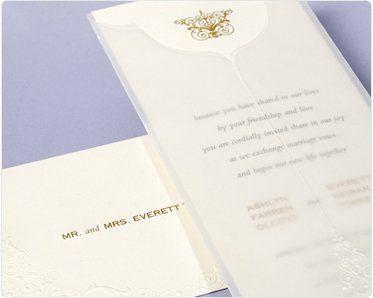Elegant wedding inviation