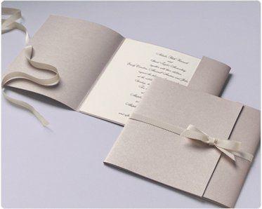 Simple nude wedding invite