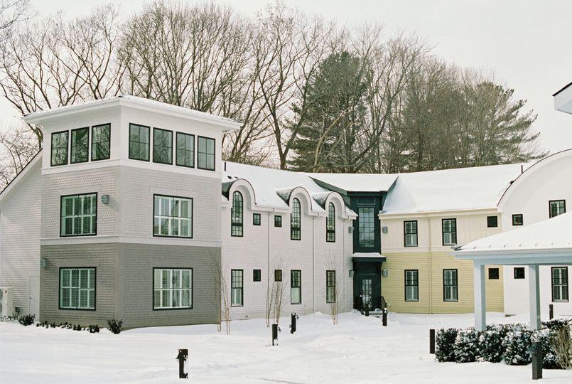 The inn courtyard