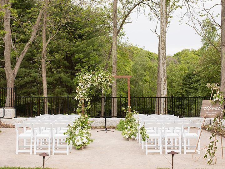 Tmx Carly Michelle Photography Outdoor Patio Ceremony Wood Arbor Spring 51 1000472 1566587363 Rowley, MA wedding venue