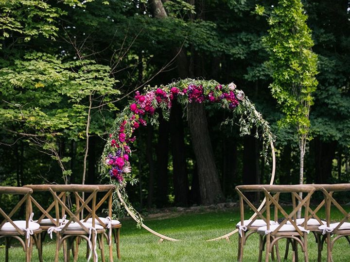 Tmx Zev Fisher Photography Outdoor Lawn Ceremony Circular Arbor Crossback Chair Upgrade Spring Flowers 51 1000472 1566587369 Rowley, MA wedding venue