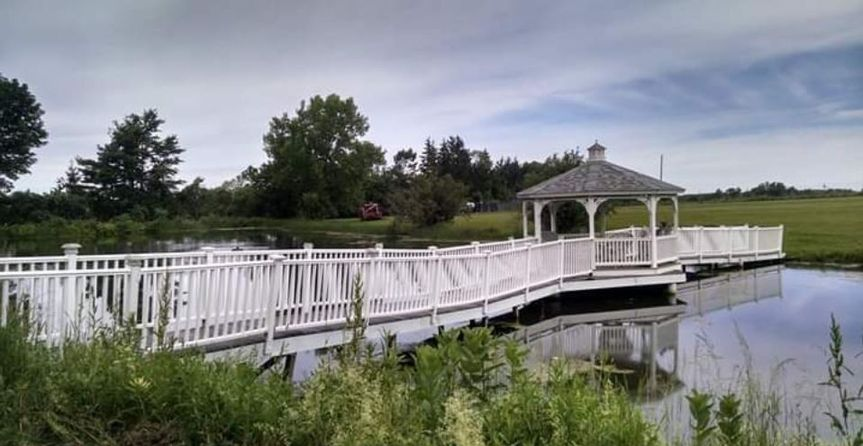 Bridge to the gazebo