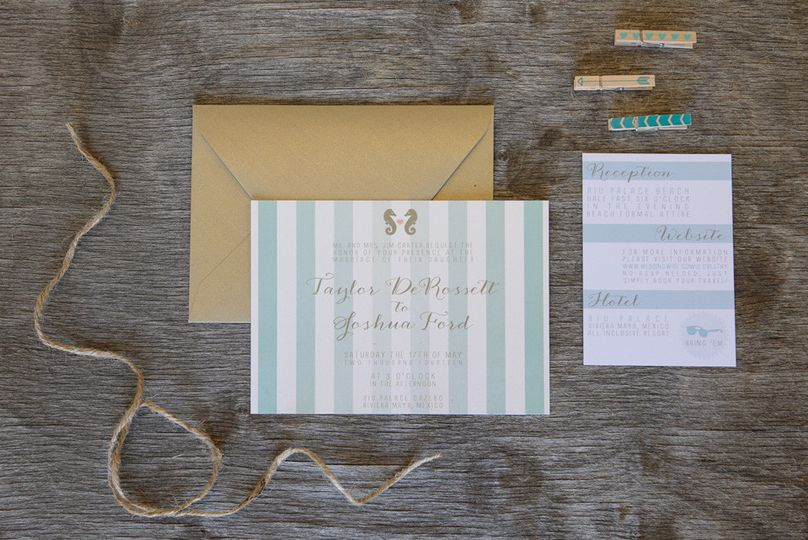 Striped invite