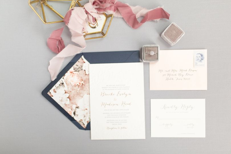 Navy blue envelope