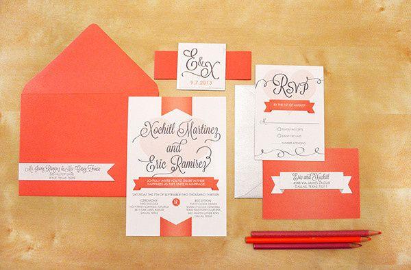 Tmx 1377194868708 Coralbanner Dallas, Texas wedding invitation
