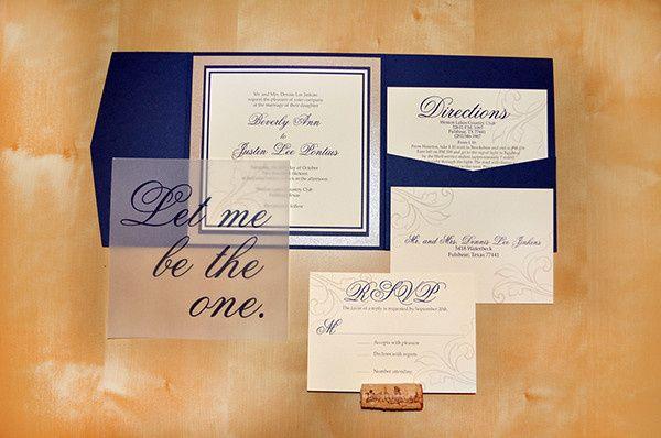 Tmx 1377194889617 Navypocket Dallas, Texas wedding invitation
