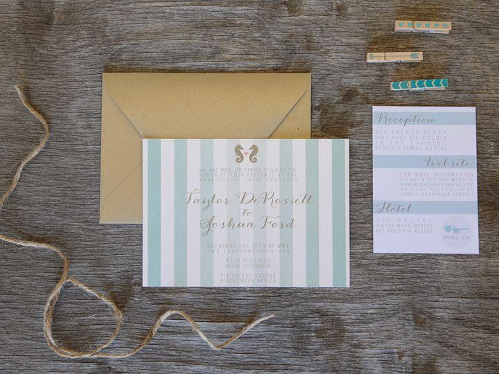 Tmx 1399044934059 Thebeeskneesstationary 000 Dallas, Texas wedding invitation