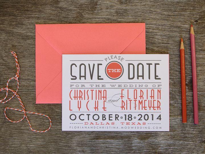Tmx 1399044945198 Thebeeskneesstationary 000 Dallas, Texas wedding invitation