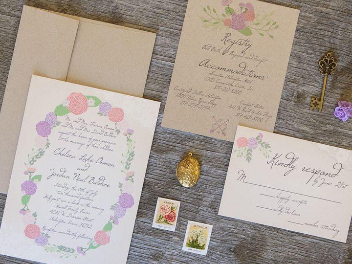 Tmx 1399045018915 Thebeeskneesstationary 001 Dallas, Texas wedding invitation