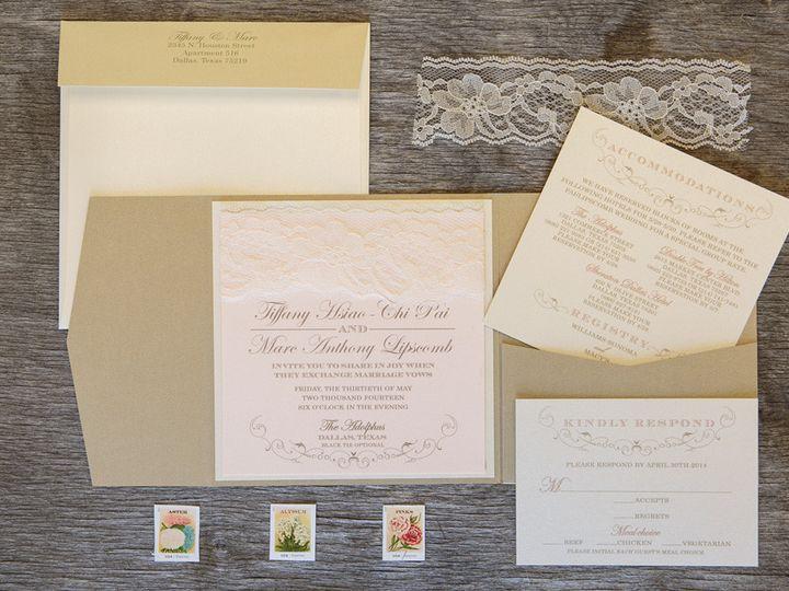 Tmx 1399045067492 Thebeeskneesstationary 002 Dallas, Texas wedding invitation