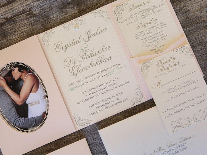 Tmx 1399045077854 Thebeeskneesstationary 002 Dallas, Texas wedding invitation