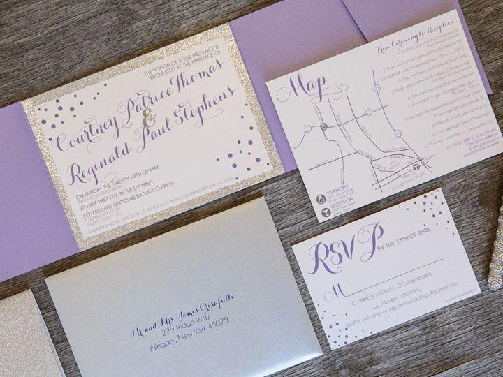 Tmx 1399045123297 Thebeeskneesstationary 003 Dallas, Texas wedding invitation