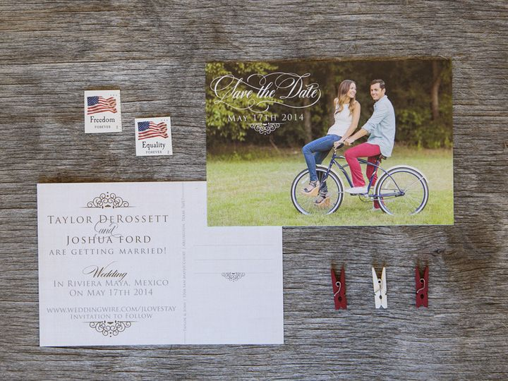 Tmx 1399046069011 Thebeeskneesstationary 004 Dallas, Texas wedding invitation