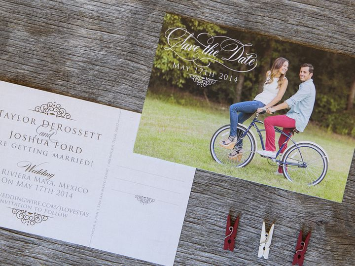 Tmx 1399046074877 Thebeeskneesstationary 004 Dallas, Texas wedding invitation