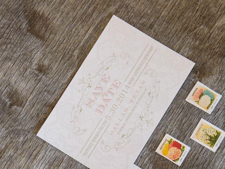 Tmx 1399046086567 Thebeeskneesstationary 004 Dallas, Texas wedding invitation