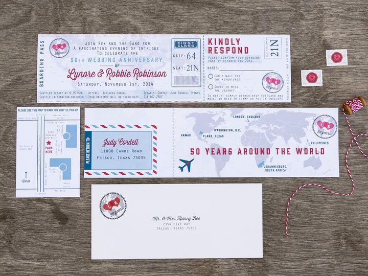Tmx 1414097753874 Thebeeskneesstationary 0066 Dallas, Texas wedding invitation