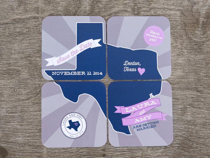 Tmx 1414097947673 Thebeeskneesstationary 0071 Dallas, Texas wedding invitation