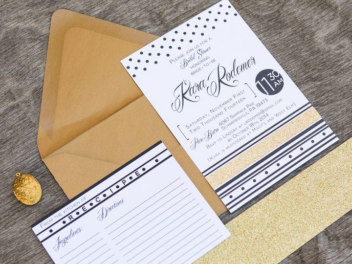 Tmx 1414098152306 Thebeeskneesstationary 0082 Dallas, Texas wedding invitation