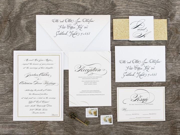 Tmx 1414098226313 Thebeeskneesstationary 0086 Dallas, Texas wedding invitation