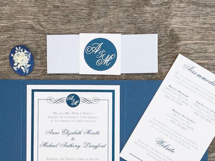 Tmx 1414098308115 Thebeeskneesstationary 0090 Dallas, Texas wedding invitation