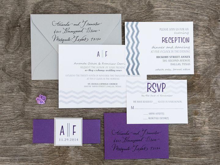 Tmx 1414098348383 Thebeeskneesstationary 0092 Dallas, Texas wedding invitation