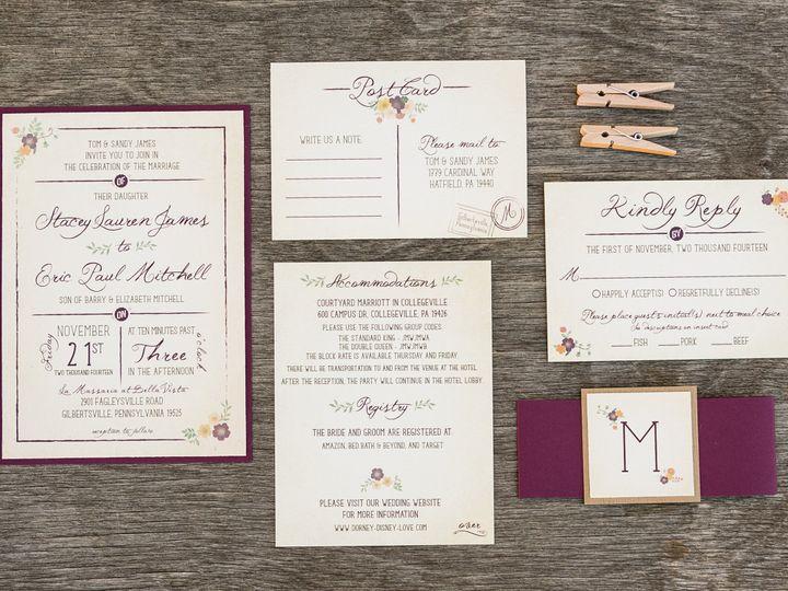 Tmx 1414098463249 Thebeeskneesstationary 0097 Dallas, Texas wedding invitation