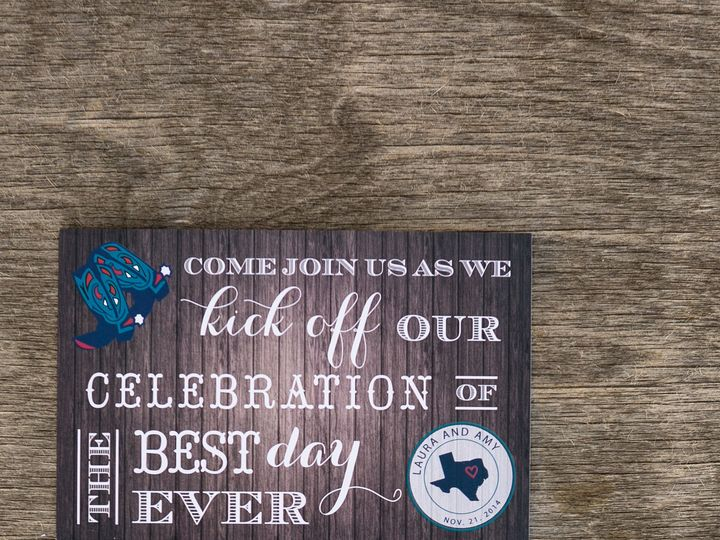 Tmx 1414098701522 Thebeeskneesstationary 0105 Dallas, Texas wedding invitation