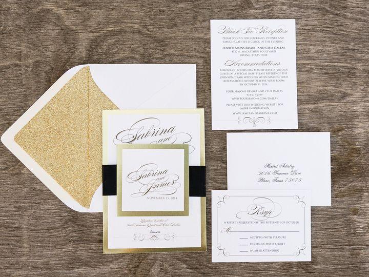 Tmx 1414098826753 Thebeeskneesstationary 0111 Dallas, Texas wedding invitation