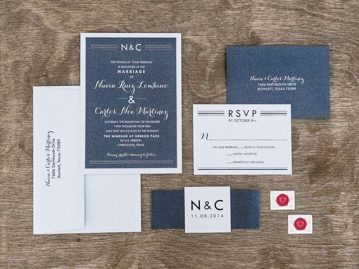 Tmx 1414098899304 Thebeeskneesstationary 0115 Dallas, Texas wedding invitation