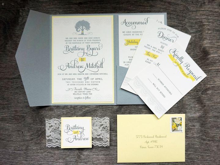 Tmx 1470777961775 Dsc00783 Dallas, Texas wedding invitation