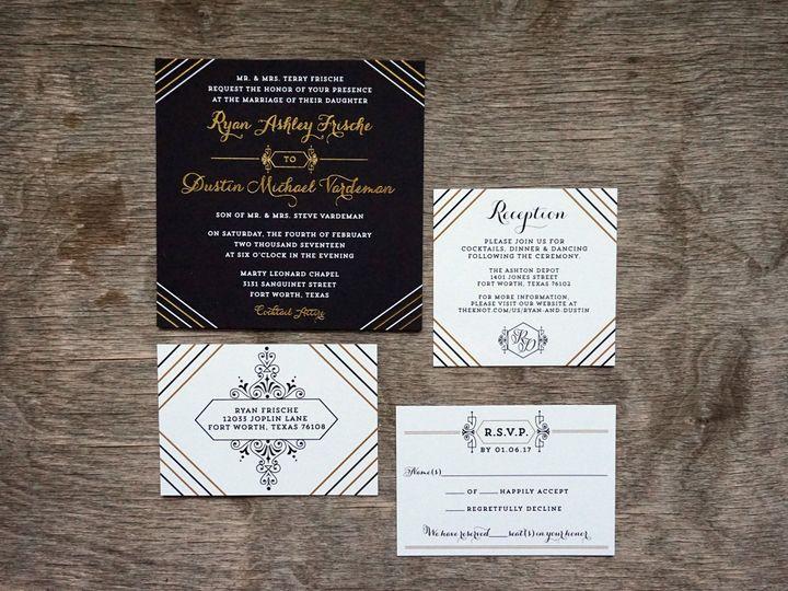 Tmx 1496693026308 Dsc01312 Dallas, Texas wedding invitation
