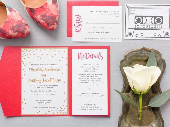 Tmx 1531329400 7024e736b2876304 1531329398 888e649d38da0a02 1531329398270 4 5Z1A6982 Dallas, Texas wedding invitation