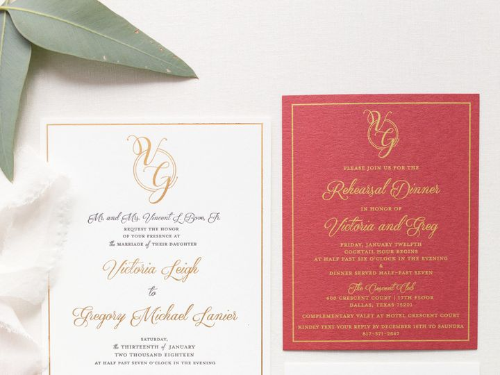 Tmx 1531329507 E51769a940a0da52 1531329505 Ec9c282a7c841537 1531329504068 11 5Z1A7197 Dallas, Texas wedding invitation